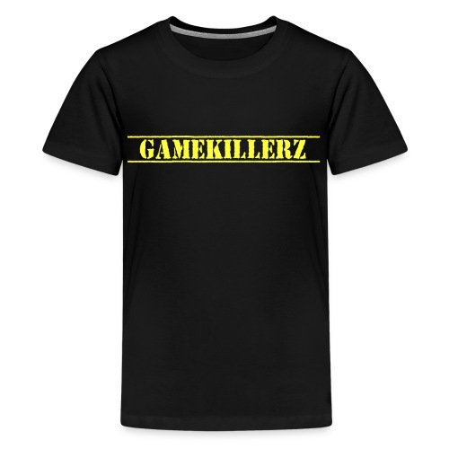 Kids Black T-Shirt w/ Yellow Logo  - Kids' Premium T-Shirt