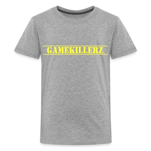 Kids Gray T-Shirt w/ Yellow Logo  - Kids' Premium T-Shirt