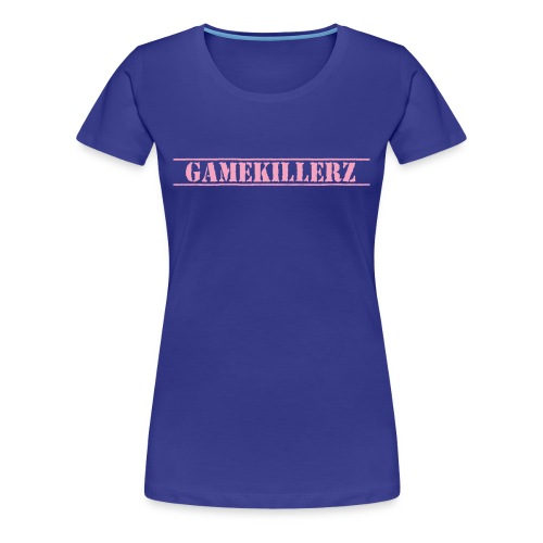 Womens Royal Blue T-Shirt w/ pink logo - Women's Premium T-Shirt