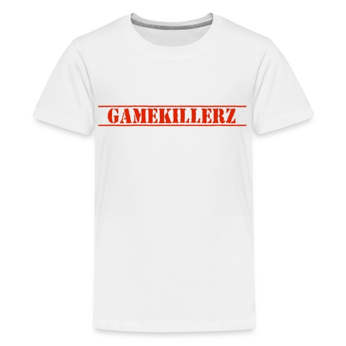 Kids White T-Shirt w/ red logo - Kids' Premium T-Shirt