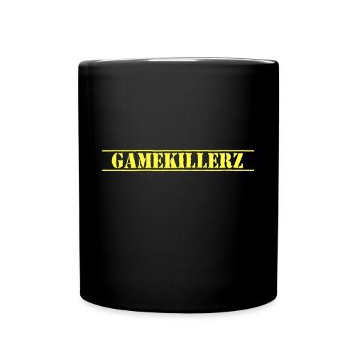 Black Coffee Cup w/ Yellow Logo - Full Color Mug