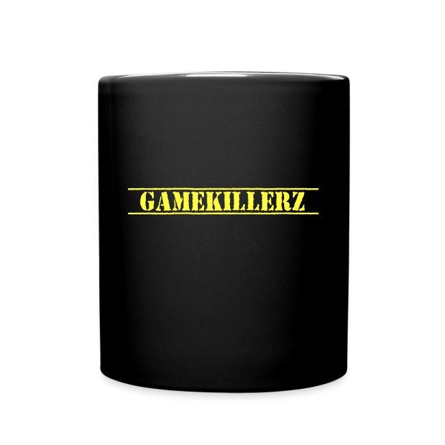 Black Coffee Cup w/ Yellow Logo