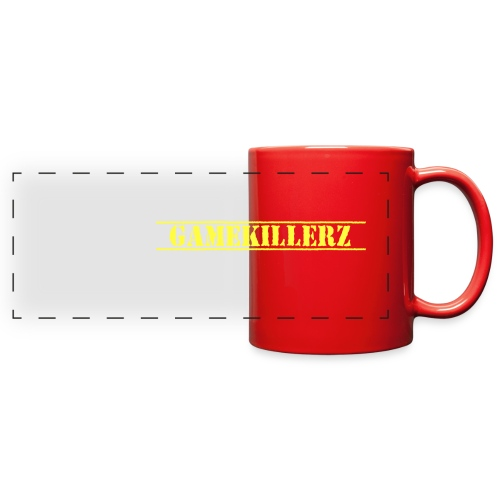 Coffee Cup w/ yellow logo - Full Color Panoramic Mug
