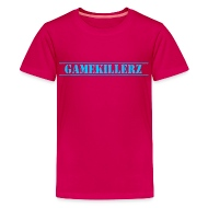 gamekillerzcrew kids dark pink t shirt w light blue logo girl rh shop spreadshirt com