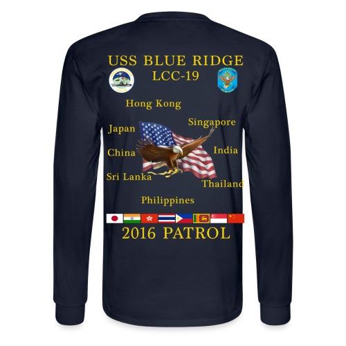 USS BLUE RIDGE LCC-19 2016 SPRING PATROL LONG SLEEVE - Men's Long Sleeve T-Shirt