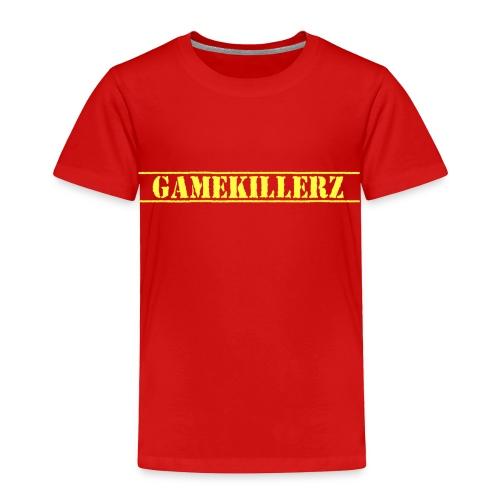 Toddler Red T-Shirt w/ Yellow Logo  - Toddler Premium T-Shirt