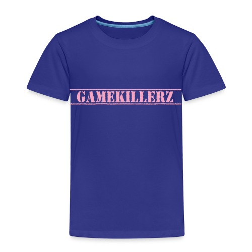 Toddler Royal Blue T-Shirt w/ Pink Logo - Toddler Premium T-Shirt