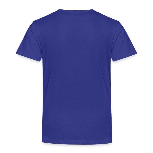 Toddler Royal Blue T-Shirt w/ Pink Logo