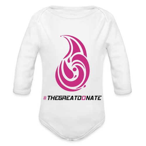The Great Donate baby jumpsuit pink design - Organic Long Sleeve Baby Bodysuit