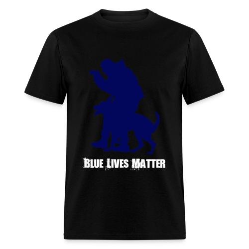 Blue Lives Matter K9 - Men's T-Shirt - Police - Men's T-Shirt
