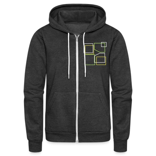 SPECIAL* Unisex: Donald Louch Outline Fleece Zip Hoodie - Unisex Fleece Zip Hoodie