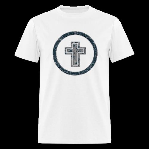 circle and cross - Men's T-Shirt