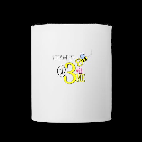 WHITE AND SKY BLUE COFFEE MUG - Contrast Coffee Mug