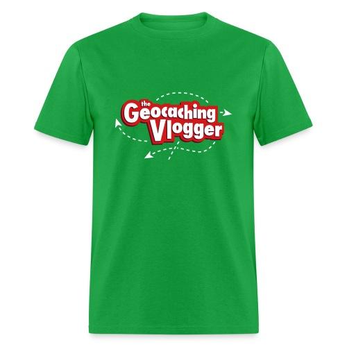 Geocaching Vlogger T-Shirt Green - Men's T-Shirt
