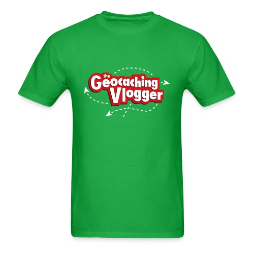 Geocaching Vlogger T-Shirt Green - Men's T-Shirt