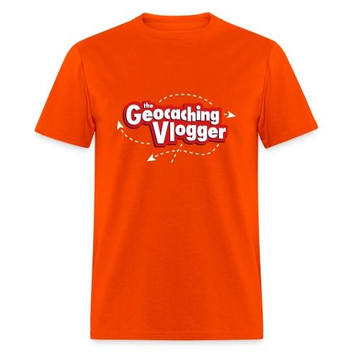 Geocaching Vlogger T-Shirt Orange - Men's T-Shirt