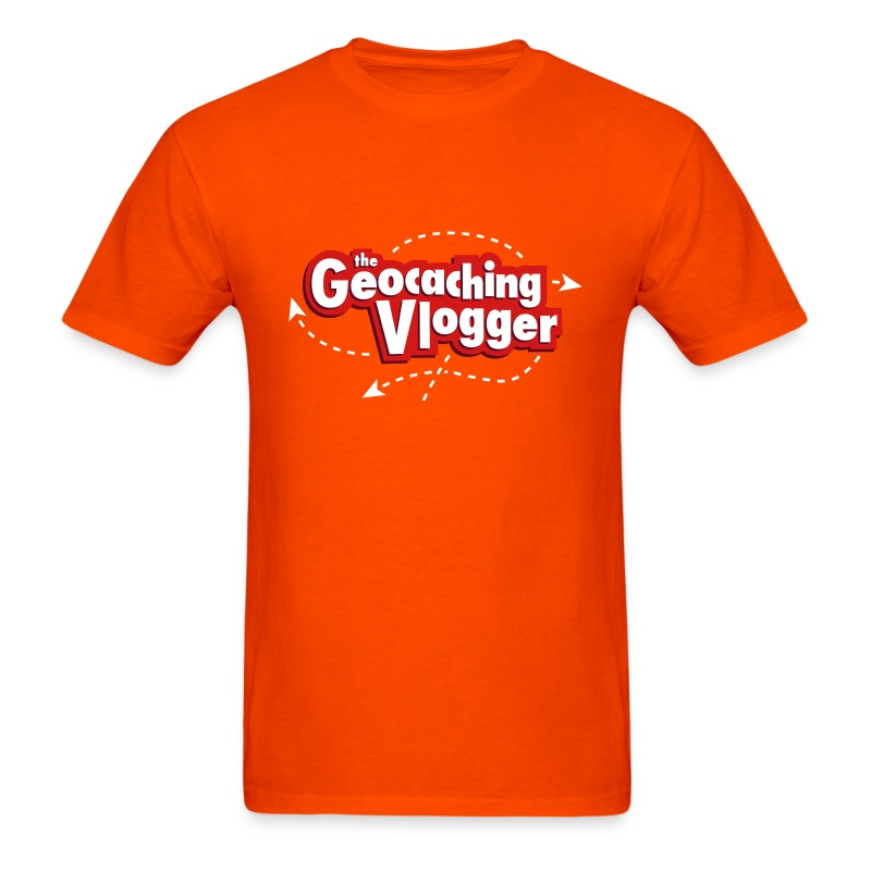 Geocaching Vlogger T-Shirt Orange - Men's T-Shirt