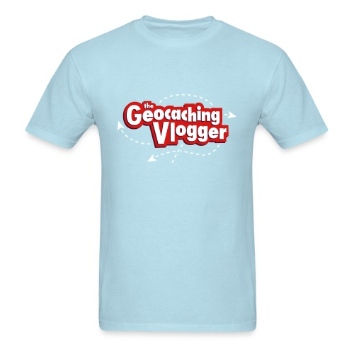 Geocaching Vlogger T-Shirt Light Blue - Men's T-Shirt