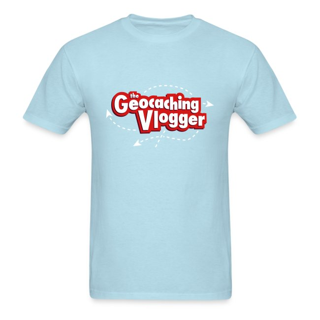 Geocaching Vlogger T-Shirt Light Blue