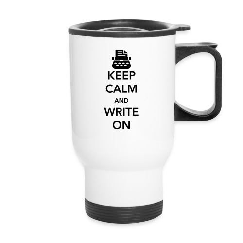 Writer's Travel Mug (Keep Calm) - Travel Mug