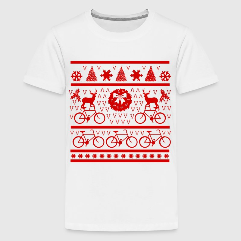 DEAR WITH BYCICLE - Kids' Premium T-Shirt
