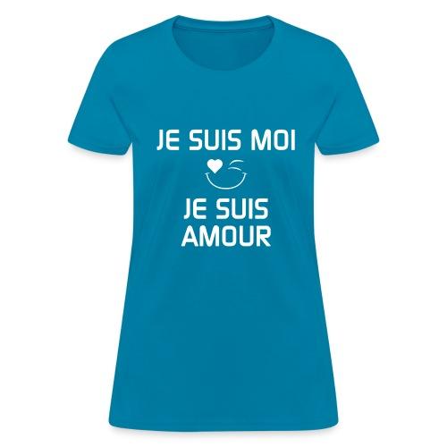 JE SUIS MOI - JE SUIS AMOUR  100%cotton - T-shirt pour femmes