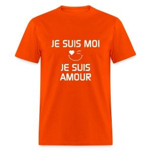 JE SUIS MOI - JE SUIS AMOUR  100%cotton - T-shirt pour hommes