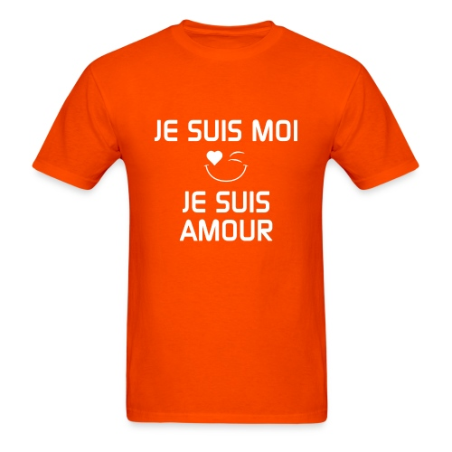JE SUIS MOI - JE SUIS AMOUR  100%cotton - Men's T-Shirt