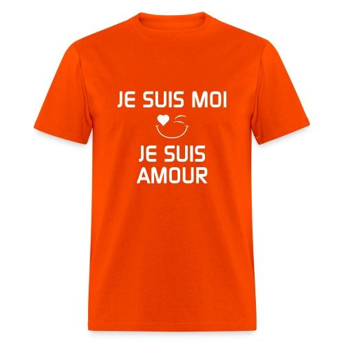 JE SUIS MOI - JE SUIS AMOUR  100%cotton - Men's T-Shirt