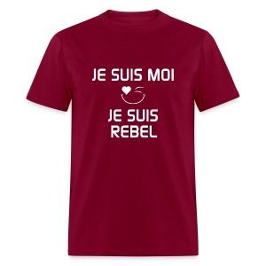 JE SUIS MOI - JE SUIS REBEL  100%cotton - T-shirt pour hommes