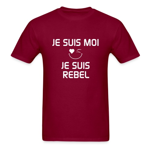 JE SUIS MOI - JE SUIS REBEL  100%cotton - Men's T-Shirt