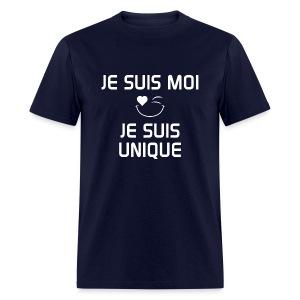 JE SUIS MOI - JE SUIS UNIQUE  100%cotton - T-shirt pour hommes