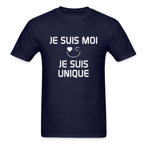 JE SUIS MOI - JE SUIS UNIQUE  100%cotton - Men's T-Shirt