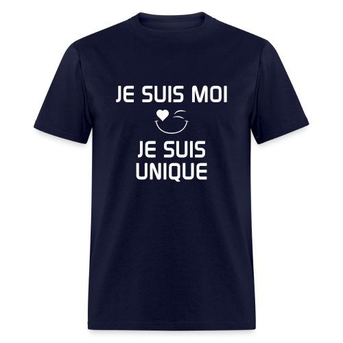 JE SUIS MOI - JE SUIS UNIQUE  100%cotton - Men's T-Shirt