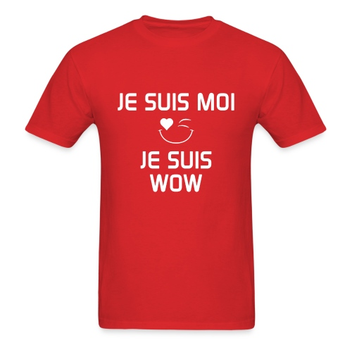 JE SUIS MOI - JE SUIS WOW  100%cotton - Men's T-Shirt