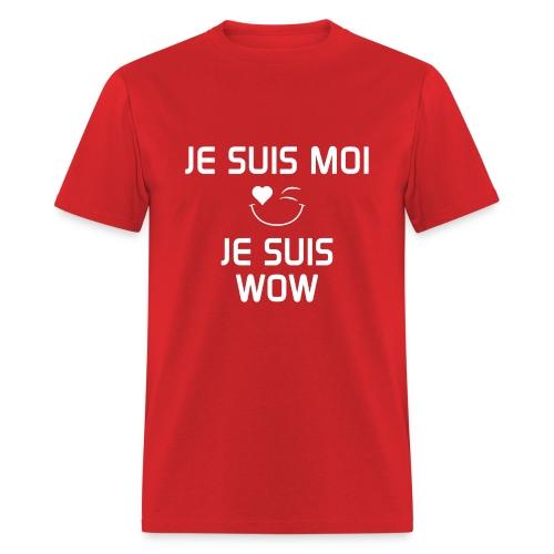 JE SUIS MOI - JE SUIS WOW  100%cotton - T-shirt pour hommes