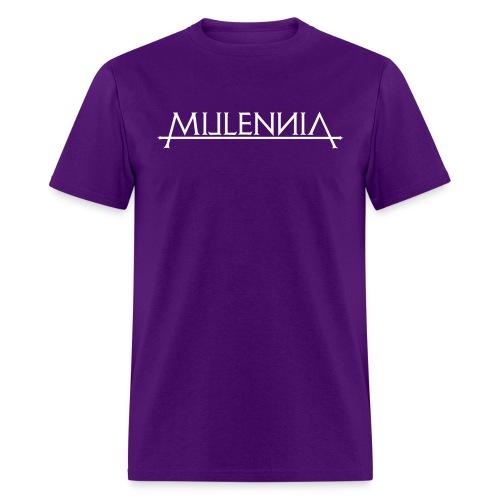 Millennia Logo (Purple) - Men's T-Shirt