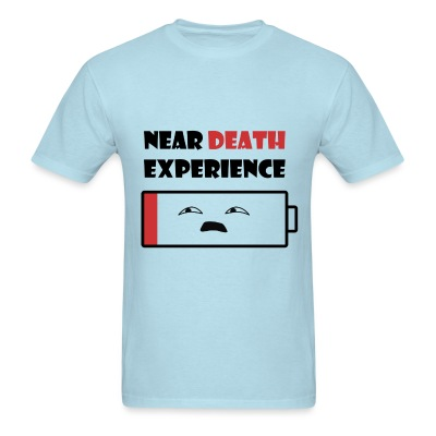 Near Death Battery mens shirt - Men's T-Shirt