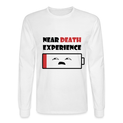 Near Death Battery mens long sleeve shirt - Men's Long Sleeve T-Shirt