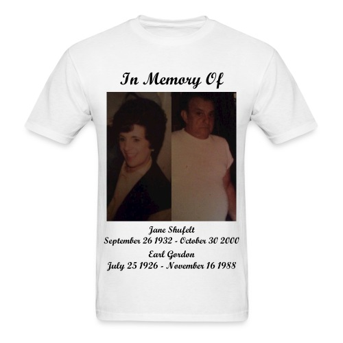 In Memory Of Grandma And Grandpa T-Shirt (Mens) - Men's T-Shirt