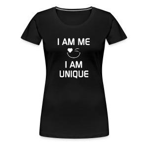 I AM ME - I AM UNIQUE  %100 Cotton - Women's Premium T-Shirt