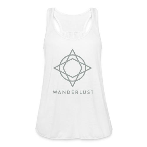 Wanderlust Tank - Womens White - Women's Flowy Tank Top by Bella