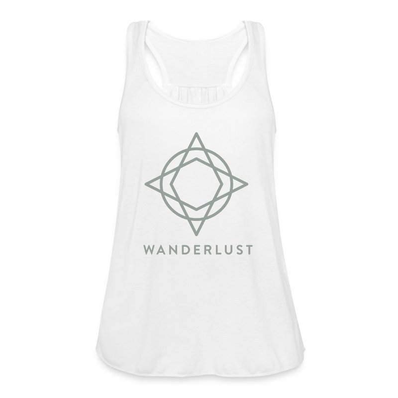 Wanderlust Tank - Womens White - Women's Flowy Tank Top by Bella