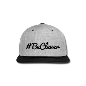 #BeClever Hat (black and grey) - Snap-back Baseball Cap