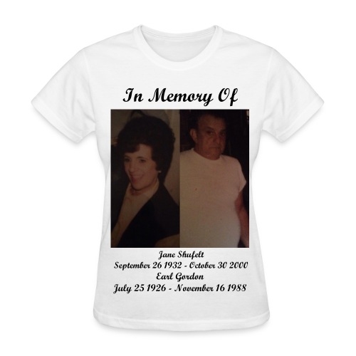 In Memory Of Grandma And Grandpa T-Shirt (Womens) - Women's T-Shirt
