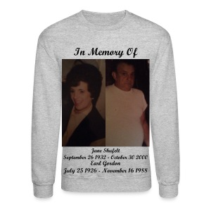 In Memory Of Grandma And Grandpa Long Sleeve Shirt (Mens) - Crewneck Sweatshirt