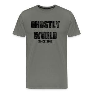 Ghostly World Logo Men's T-Shirt - Men's Premium T-Shirt