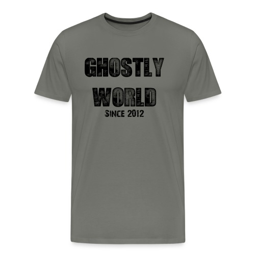 Ghostly World Logo Men's T-Shirt - Men's Premium T-Shirt