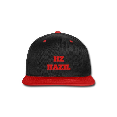 HZ Hazil Red/Blk Snapback Cap - Snap-back Baseball Cap