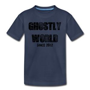 Ghostly World Logo Kid's T-Shirt - Kids' Premium T-Shirt